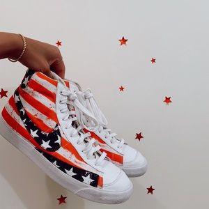 American flag Nike blazers size 11